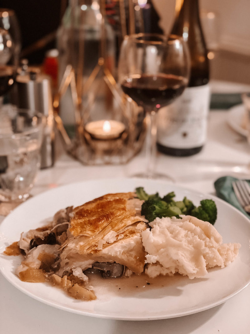 COMFORTING CHICKEN LEEK AND MUSHROOM PIE
