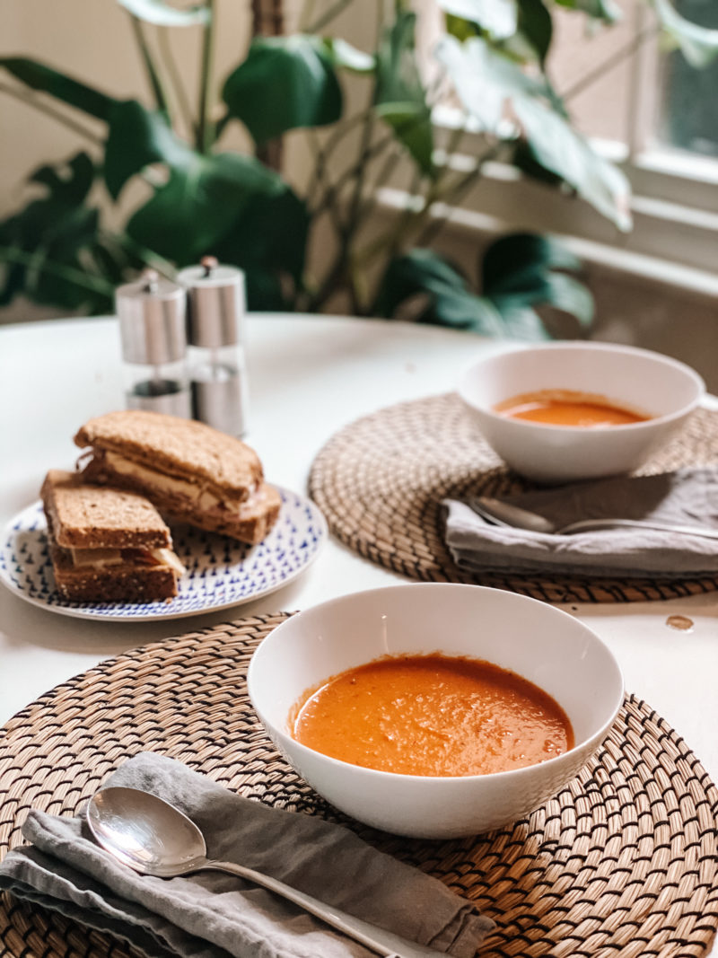 ROASTED RED PEPPER, TOMATO AND GARLIC SOUP