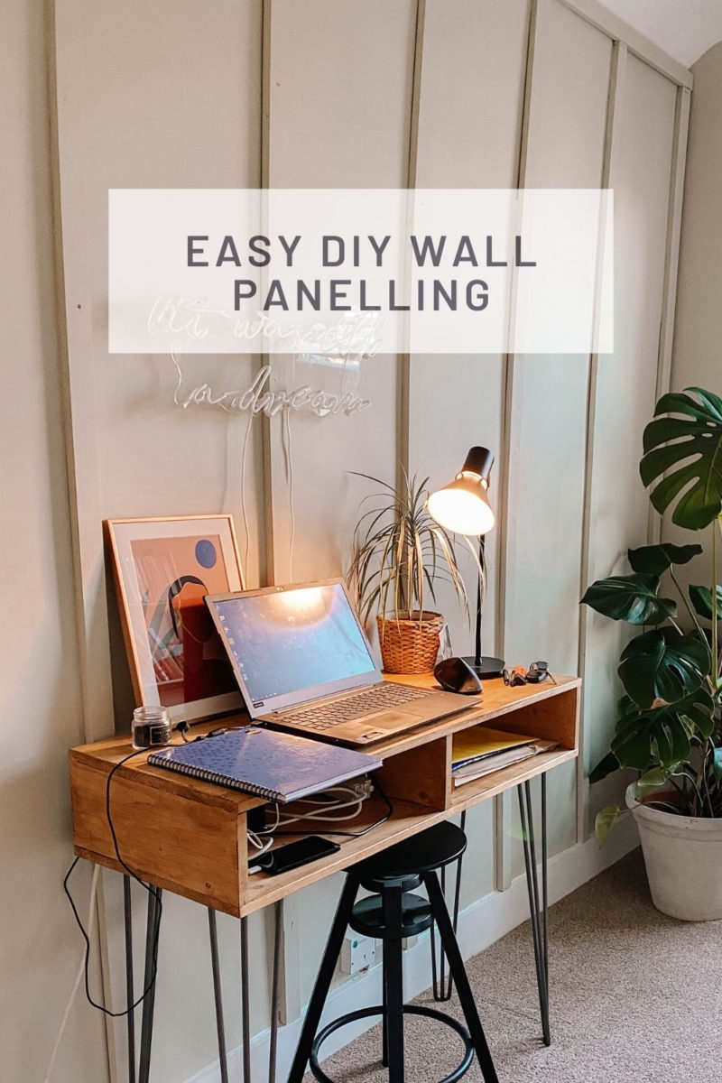 EASY DIY WALL PANELLING TUTORIAL // HOW TO MAKE A STATEMENT WALL