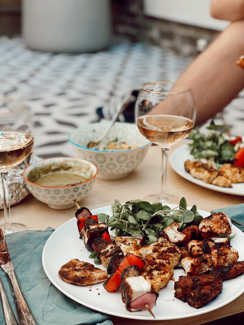 INDIAN INSPIRED BBQ // CHICKEN KEBABS WITH PANEER, MANGO SALSA & CAULIFLOWER STEAKS