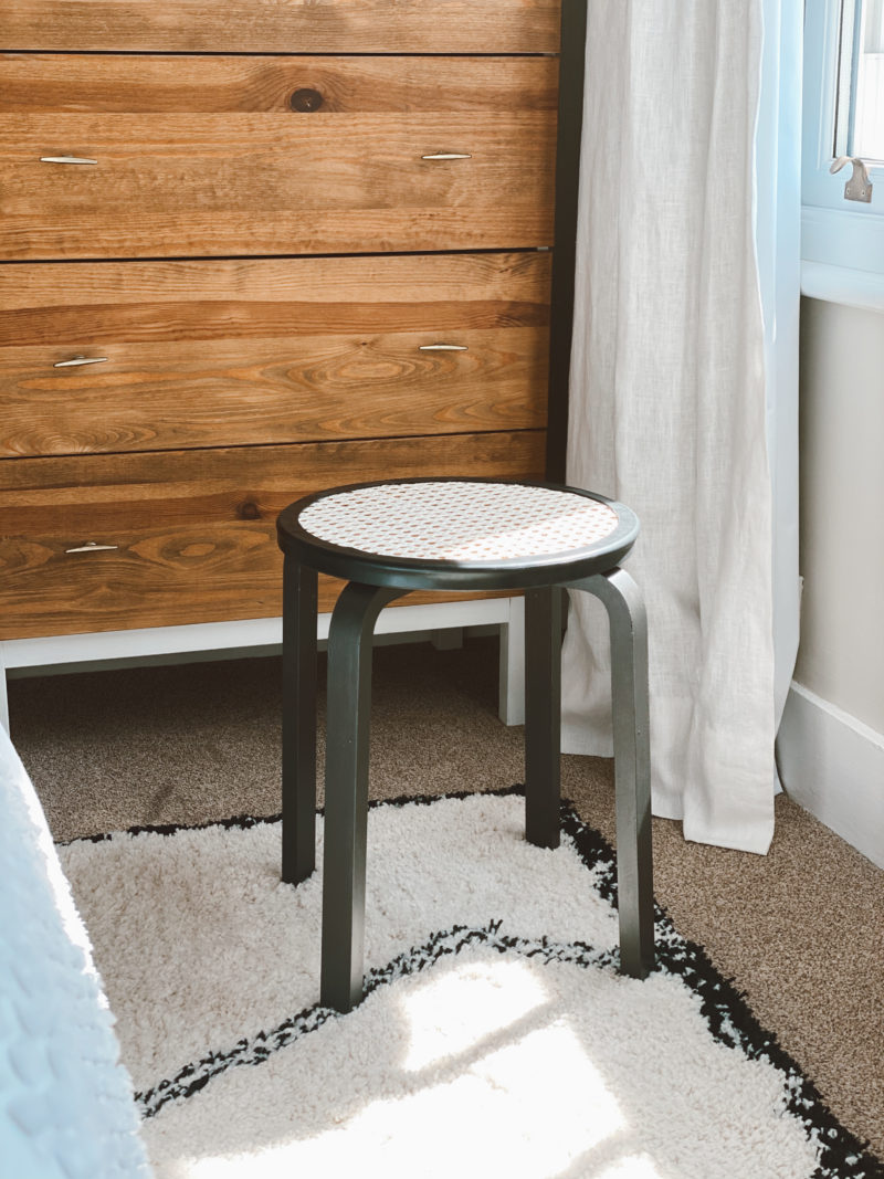 DIY CANE WEBBING RATTAN STOOL MAKEOVER // 4 EASY STEPS TO THE 2020 HOME INTERIORS TOP TREND